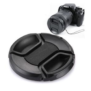 62mm Center Pinch Camera Lens Cap(Black)