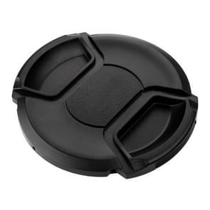 77mm Center Pinch Camera Lens Cap(Black)