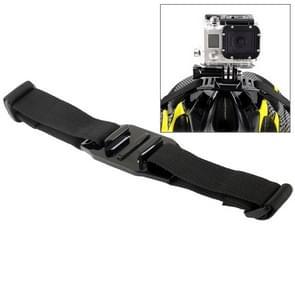 ST-04 Geventileerde Helm Riem Houder Adapter voor GoPro HERO (2018) 7 / 6 / 5 / 4 / 3+ / 3 / 2 / 1 (zwart)