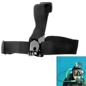ST-24 Anti-slip Verstelbare Elastische hoofdband voor GoPro HERO (2018) 7 / 6 / 5 / 4 / 3+ / 3 / 2 / 1 (zwart)
