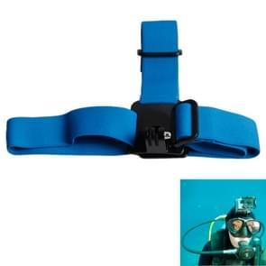 TMC Anti-slip Verstelbare Elastische hoofdband Riem voor GoPro HERO (2018) 7 / 6 / 5 / 4 / 3+ / 3 / 2 / 1 (blauw)