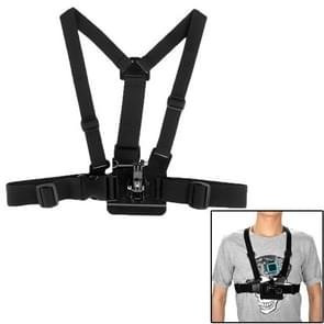 ST-25 Adjustable Body Chest Strap Mount Belt Harness with Buckle Bracket Screw for GoPro  NEW HERO /HERO6   /5 /5 Session /4 Session /4 /3+ /3 /2 /1  Xiaoyi and Other Action Cameras(Black)
