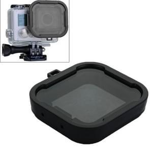 Aqua Cube Snap-on Dive Behuizing Filter voor GoPro Hero 4 / 3+ (grijs)