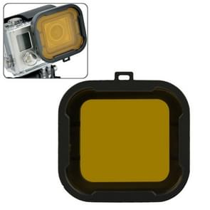 Aqua Cube Snap-on Dive Behuizing Filter voor GoPro Hero 4 / 3+ (geel)