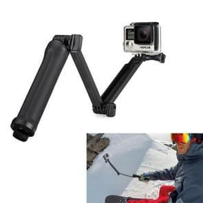 3-Wegs Monopod + Statief + Grip Super Draagbaar Magic Houder Selfie Stick voor HERO 4/5 SESSION / (2018) 7 / 6 / 5 / 4 / 3+ / 3 / 2 / 1 / 2 / SJ4000, Lengte: 20-62cm