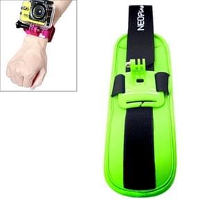 NEOpine Sport Duiken Polsriempje Houder Stabilisator 90 graden draaibaar voor GoPro HERO (2018) 7 / 6 / 5 / 4 / 3+ / 3 / 2 / 1 (groen)
