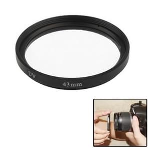 43mm SLR Camera UV Filter(Black)