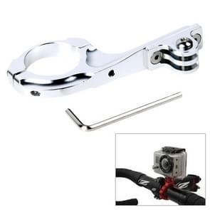 TMC-Fiets Aluminium Adapter fietsstuur Houder Pro voor GoPro HERO (2018) 7 / 6 / 5 / 4 / 3+ / 3 / 2 / 1 (zilver)