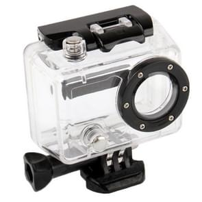 Behuizing Spat Waterdichte beschermings hoes / case voor GoPro HERO 2 Camera (Zwart + Transparant)