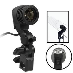 E27 AC Socket Studio Light Mount Stand Umbrella Holder(Black)
