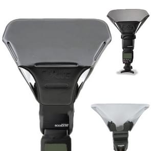 FB-20 universeel camera bovenste flits licht speedlite bounce focus flash diffuser(zwart)
