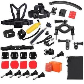 YKD-129 38 in 1 Chest Belt + Wrist Belt + Head Strap + Floating Bobber Monopod + Screws + Carry Bag + Seatpost Pole Mount Set for GoPro HERO4 /3+ /3 /2 /1 / SJ4000