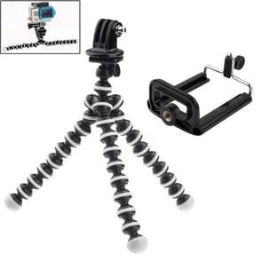 2 In 1 Flexibel Statief voor Houder Adapter + Telefoons Houder Adapter Set voor GoPro HERO 6 / 5 / 4 / 3+ / 3 / 2 / 1 / SJ4000 / en mobiele telefoon