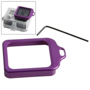 Lens vervangings Kit (Aluminum draagriem ringbevestiging & schroevendraaier) voor GoPro HERO 4 / 3+(paars)