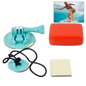 TMC-Board houder set voor wakeboard,  Surfboard en Snowboard geschikt voor GoPro Hero 4 / 3 + / 3 / 2 / 1  (baby blauw/zeegroen)