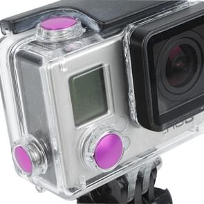 TMC Geanodiseerd aluminium gekleurde button set voor GoPro Hero 3+, pakket van 3 (hard roze)