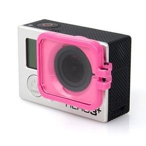 TMC Lens Anti-exposure beschermkap voor GoPro Hero 4 / 3+ (hard roze)
