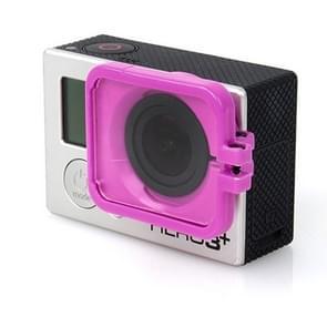 TMC Lens Anti-exposure beschermkap voor GoPro Hero 4 / 3+ (paars)