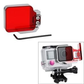 TMC Light Motion Nacht onderwater filter voor GoPro Hero 4 / 3+ (rood)