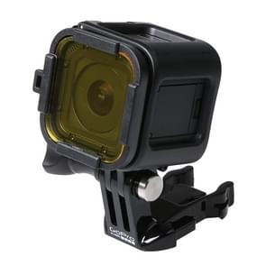 Standaard behuizing scuba duiken accessoire filter voor de GoPro HERO4 Session(geel)