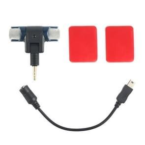 3 In 1 Professionele microfoon Upgrade Kit voor HERO 4/5 SESSION / (2018) 7 / 6 / 5 / 4 / 3+ / 3 / 2 / 1 / 2