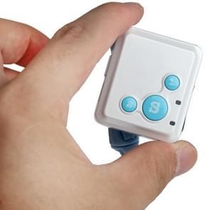 RF-V16 real-time GSM Mini GPS Tracker GPRS Tracking SOS Communicator met horloge Wristband(Blue)