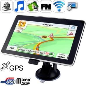 7 0 inch TFT Touch-screen Car GPS Navigator  Ingebouwd in 4GB Geheugen  Ondersteuning AV In Port  Touch Pen  Voice Broadcast  FM Transmitter  Bluetooth-functie  Ingebouwde luidspreker  Resoluties: 800 x 480 (Zwart)