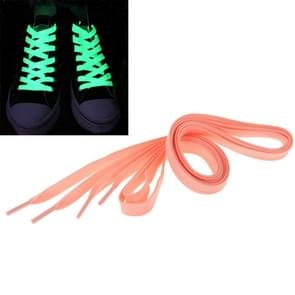 2 PC's Fashion Sports fluorescerende kleur platte Shoelaces(Pink)