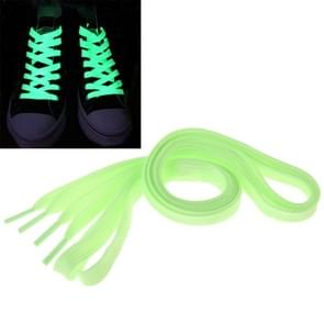 2 PCS Fashion Sports Fluorescent Color Flat Shoelaces(Green)