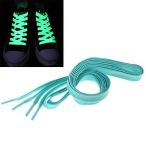 2 PCS Fashion Sports Fluorescent Color Flat Shoelaces(Blue)