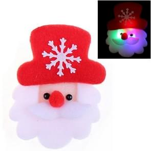 12 stuks Santa Style Flash Light kerst decoratie boom broche