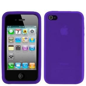 iPhone 4 & 4S Siliconen back cover Hoesje (paars)