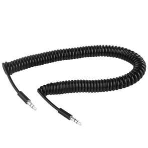 3.5mm mannelijke Jack spiraalsnoer Earphone kabel Male / voorjaar kabel  lengte: 45cm (kan worden uitgebreid tot 2m)(Black)