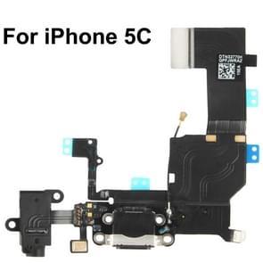 2 in 1 voor iPhone 5C (originele staart aansluiting lader + originele hoofdtelefoon Audio Jack lint) Flex kabel
