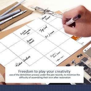 JAKEMY JM-Z09 25 x 20 cm magnetische Project Mat met Marker Pen voor iPhone / Samsung reparatie Tools