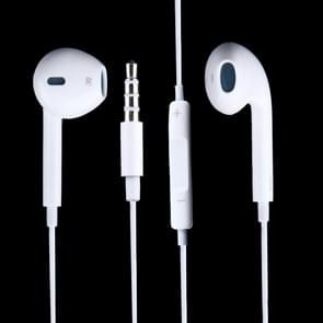 3.5mm koptelefoon met Wired controle en microfoon  voor de iPad  iPhone  Galaxy  Huawei  Xiaomi  LG  HTC en andere slimme Phones(White)