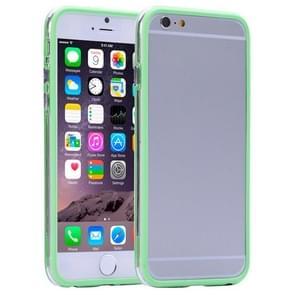 Transparent Plastic + TPU Bumper Frame Case for iPhone 6 Plus & 6S Plus(Green)