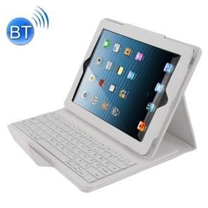 Bluetooth 3 0 toetsenbord met afneembare lederen draagtas voor iPad 4/3/2 (wit)