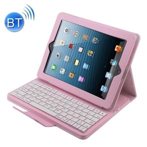 Bluetooth 3 0 toetsenbord met afneembare lederen draagtas voor iPad 4/3/2 (roze)