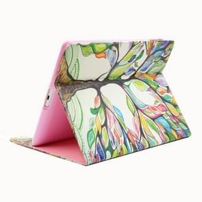 Boom patroon horizontale Flip lederen draagtas met houder & Card Slots & portefeuille van de kleur voor de iPad 4 / 3 / 2