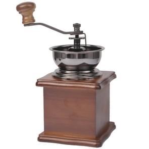 Handmatige koffiemolen hout Stand Bowl antieke Hand koffieboon Grinder