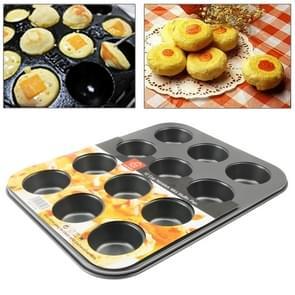 12 gaten Nonstick Mini Muffin schimmel RVS Pan