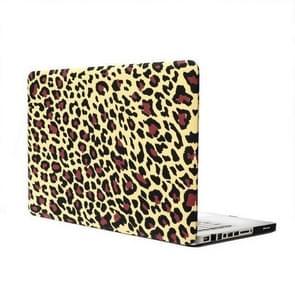 MacBook Pro 13.3 inch Geel luipaard patroon hard Kunststof Hoesje / Case