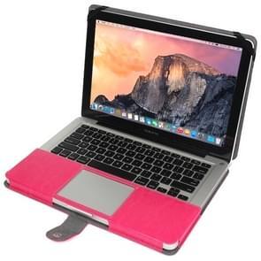 MacBook Pro 15.4 inch PU leren Hoesje met snap-on bevestiging (roze)