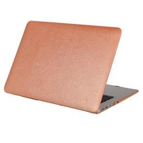 MacBook Pro 13.3 inch Zijde structuur beschermende Cover met een superieure krasvastheid (koffie kleur)