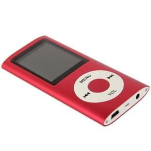 1.8 inch TFT scherm metaal MP4 speler met TF kaartslot  steun de Recorder  de Radio van de FM  E-boek en Calendar(Red)