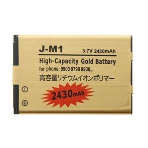 2430mAh hoge capaciteit gouden Li-ion mobiele telefoon accu voor BlackBerry J-M1 /9900 / 9790 / 9930