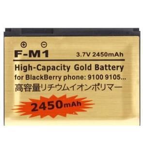 2450mAh F-M1 Hoge capaciteit Gold Business vervanging batterij voor Blackberry 9105 / 9100 / Pearl 3G