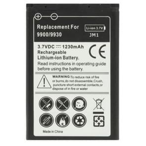1230mAh J-M1 Vervanging accu / batterij voor Zwartberry Bold 9900 / 9930 / 9790