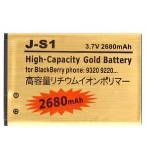 2680mAh de batterij van de vervanging van de hoge capaciteit gouden Business van de J-S1 voor Blackberry 9220 / 9310 / 9320